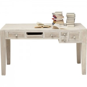 Vivid Blanche Contemporary Mango Wood Console Hall Table Study Desk