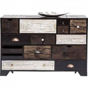 Vivid Noir Contemporary chest of drawers dresser sideboard 14 drawers