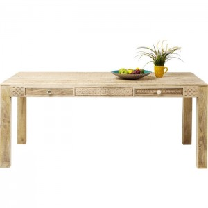 Vivid Sahara Contemporary Mango Wood Dining Table 1.4m 4 - 6 seater
