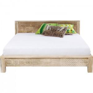 Vivid Sahara Contemporary Mango Wood Bed Frame King / Queen Mattress