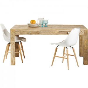 Vivid Sahara Contemporary Mango Wood Dining Table 1.6m 4-6 seater
