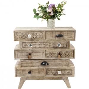 Vivid Sahara Contemporary Mango Wood Small Dresser Chest of drawers