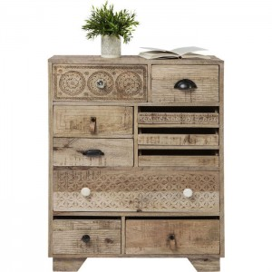 Vivid Sahara Contemporary Mango Wood Tallboy Chest of drawers 90cm