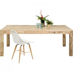 Vivid Sahara Contemporary Mango Wood Dining Table 2m 8-10 seater