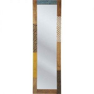 Vivid Screen Contemporary Mango Wood Bathroom Wall Mirror 180cm