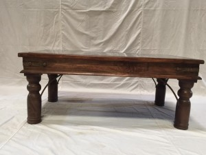 Solid Wood Indian Hand carved rectangular Coffee Table Brown  156X54X56CM