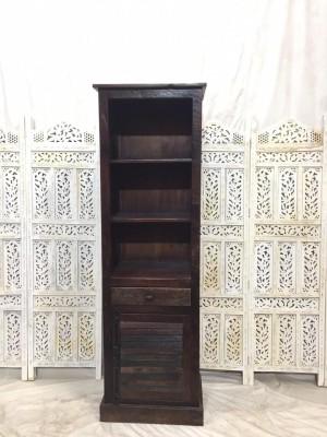 Indian Solid Wood Bookshelf  Dark Chocolate