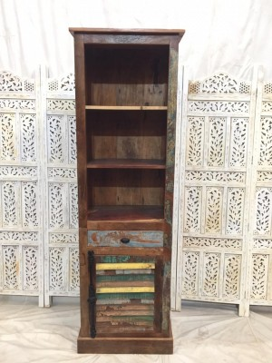 Reclaimed Solid Wood Bookshelf Cabinet 190cm