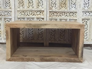 Indian Solid Wood Rectangular Coffee Table