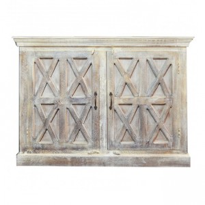 French Style X design Solid wood Sideboard