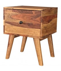 AVALON Vintage Solid wood 1Drawer Side Table Natural