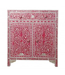 Mother of Pearl sideboard Cabinet Pink Floral