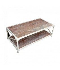 Angle Industrial French Coffee Table White 120x60cm