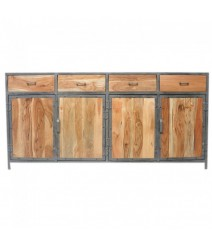 Angle Industrial Solid wood & Metal Sideboard XL 180-220cm