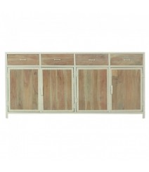 Angle Industrial French Sideboard Buffet White 180cm