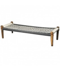 Indian Manjhi Woven Charpai Daybed Black M