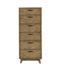 Clovelly designer solid Acacia chest of drawers tallboy