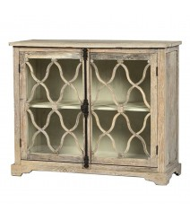 French Arched Carved Glass Doors Sideboard