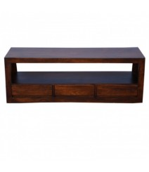 Contemporary Boston 3 drawer TV Unit Brown 145cm