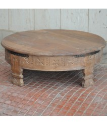 Tribal Grinder Round Small Coffee Table Natural