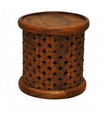 Bristol Wooden Carved Round Coffee Table
