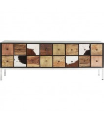 Lava Exotic Cowhide Leather Industrial Entertainment unit TV Stand