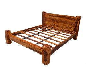 Boston Contemporary Solid Wooden Bed