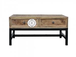 Industrial Indian Solid Wood desk Metal Legs Natural