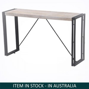 Barn wood Industrial Console Table-Whitewash-150-35-45 CM