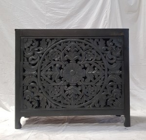 Indian Jali Hand Carved Solid Wooden Beautiful Buffet Cabinet Sideboard 105X40X90 cm