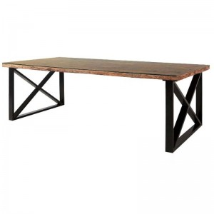 Live Edge X Design Center Table Industrial Dining Table Rectangular 180x100x75cm