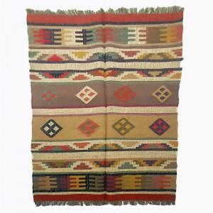 Kilim Wool Handwoven Woollen Dhurrie Durry Rug Jute Floor Covering Pattern 2
