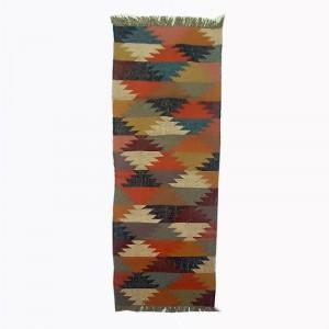 Kilim Handwoven Wool Woollen Dhurrie Durry Rug Jute Floor Runner Hallway Pattern 2