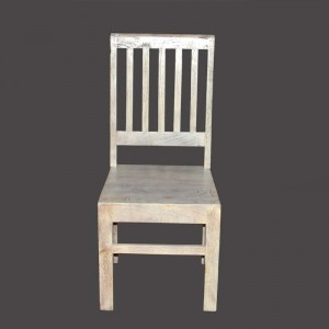 MADE TO ORDER Indian Mango Classic Wooden Seating Chair White