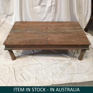 Indian Solid Wood Rectangular Coffee Table Natural