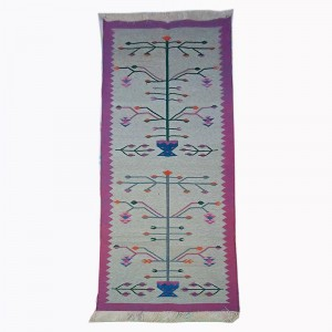 Kilim Wool Handwoven Cotton Dhurrie Durry Rug Jute Floor Runner Hallway Pattern 1