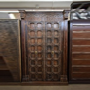 Indian Antique Old Door Hand Carved Extra Large Door Chocolate Brown
