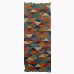 Kilim Handwoven Wool Woollen Dhurrie Durry Rug Jute Floor Runner Hallway Pattern 5