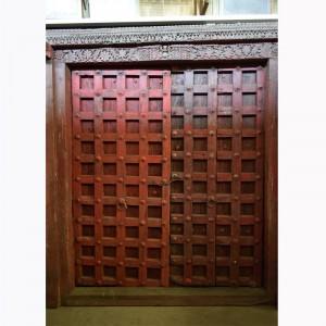 Indian Antique Old Door Hand Carved Extra Large Door Brown