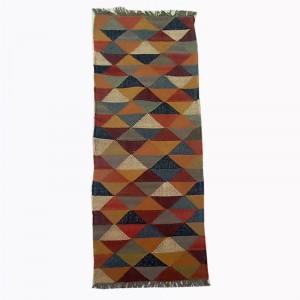 Kilim Handwoven Wool Woollen Dhurrie Durry Rug Jute Floor Runner Hallway Pattern 6