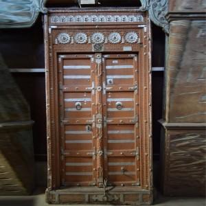Indian Antique Old Door Solid Wood Hand Carved Extra Large Door