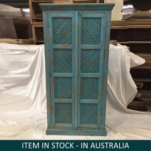 Indian Solid Wood Cupboard Cabinet Blue