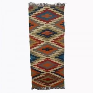 Kilim Handwoven Wool Woollen Dhurrie Durry Rug Jute Floor Runner Hallway Pattern 7