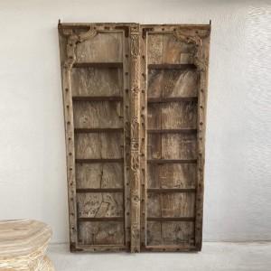 Indian Antique Old Door Solid Wood Doors Set Natural 185cm
