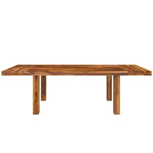 Rustic Solid Wood Extendable Dining Table Honey