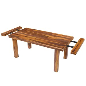 Indian Solid Wood Extendable Dining Table Honey