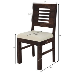 Algona Rustic Solid Wood Upholstered Dining Chair