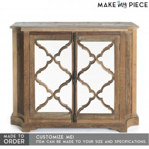 French Arched solid wood Mirror Door sideboard