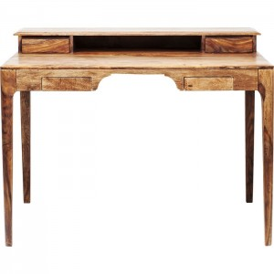 Boston Taper Contemporary Solid Wood Study Desk Console Table Natural 110 cm