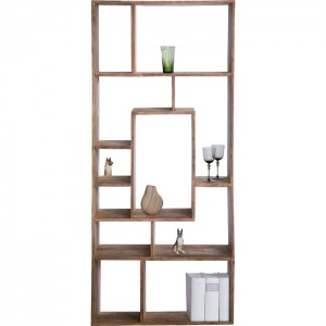 Boston Silver Contemporary Solid Wood unique Shelving Bookshelf 190 cm